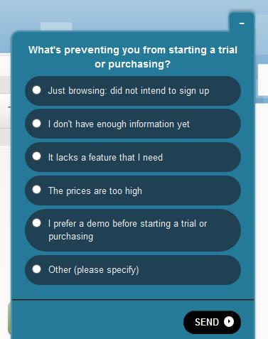 Qualaroo - инструмент для проведения опросов посетителей сайта
