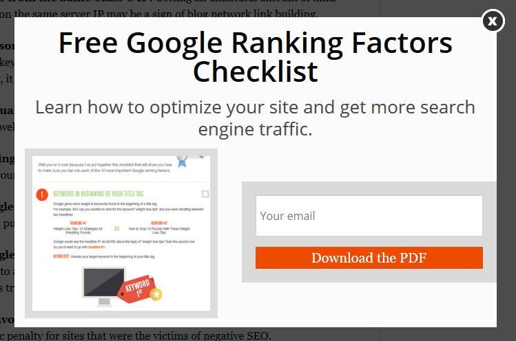 Чек-лист по факторам ранжирования Google