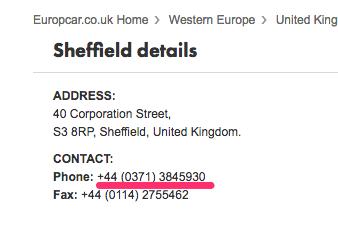Приклад відображення номера телефону на своєму веб-сайті