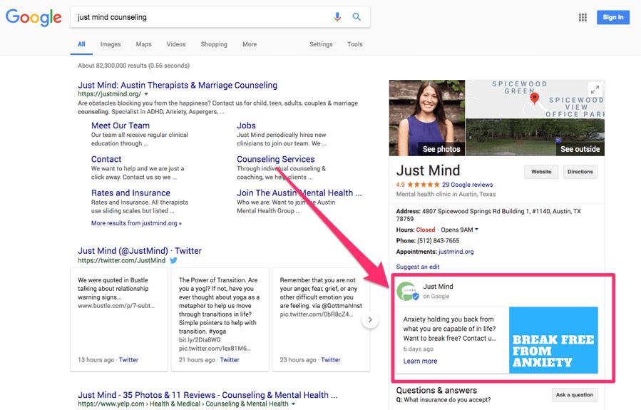 Платформа для мікро-блогів в Google My Business