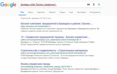 Использование Google Search Operators
