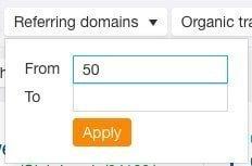 Фильтр ссылочных доменов
