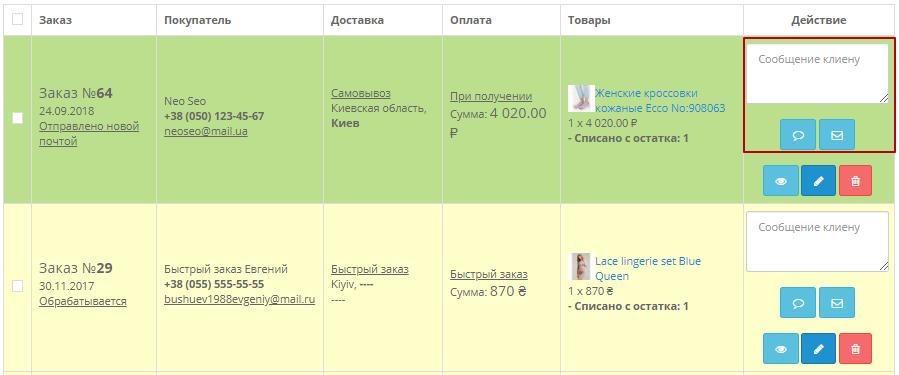 Модуль Менеджер замовлень для інтернет-магазину на OpenCart