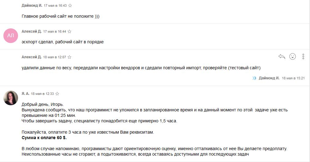Синхронізація даних для сайту Опенкарт