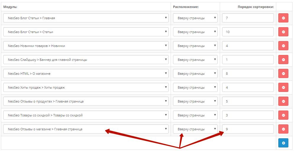 Налаштування модуля для OpenCart Відгуки про сайт