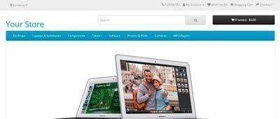 Лаконичный дизайн Интернет-магазина на OpenCart
