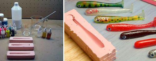 Изготовления силиконовых приманок