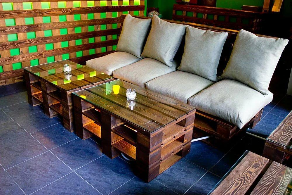 Изготовление эко-мебели из поддонов